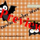 Halloween Number Word Fun for Promethean/ActivBoards