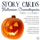 Halloween Onomatopoeia & Build-A-Story Cards