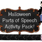 Halloween Parts of Speech Activity Pack