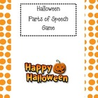 Halloween Parts of Speech Spinner Game