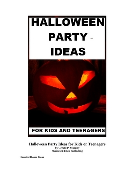 Halloween Party Ideas for Kids or Teenagers