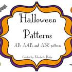 Halloween Patterns- AB, AAB, and ABC Patterns