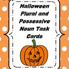 Halloween Plural and Possessive Task Cards (Common Core)