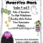 Halloween Practice Pack: Grades 4 and 5