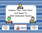 Halloween Racers Greater Than Less Than and Equal To