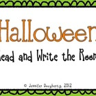 Halloween Read and Write the Room!