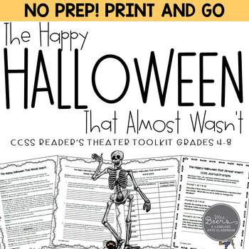 Halloween Reader's Theater for the Middle Grades to Middle School CCSS Fun Pack