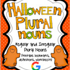Halloween Regular and Irregular Plural Noun Printables
