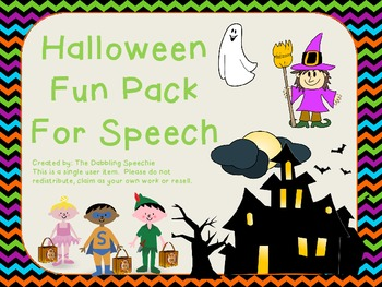 Halloween SPEECH fun pack!