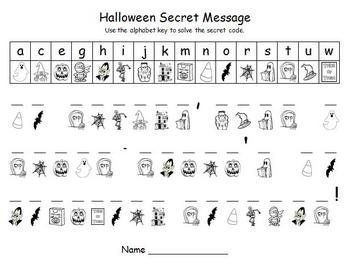 Halloween Secret Homework Message