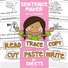Halloween Writing Worksheets - Cut, Paste, Trace, Copy & Write