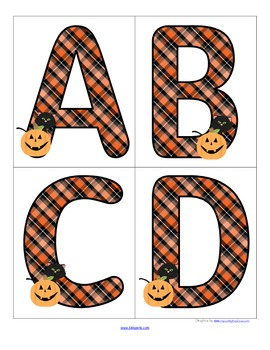 Halloween - Set of Large Alphabet Letters - FREE