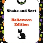 Halloween Shake and Sort - ABC Order