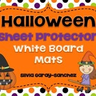 Halloween Sheet Protector White Board Mats