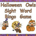 Halloween Sight Word Bingo Game- Kindergarten