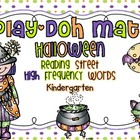 Halloween Sight Word Play-Doh Mats {Reading Street Kinderg
