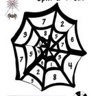 Halloween Spin-a Web Math Game