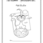 Halloween Spooktacular Math Booklet &amp; Centers