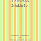 Halloween Syllable Sort (1 & 2 Syllable words)