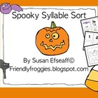 Halloween Syllable Sort - Literacy Centers