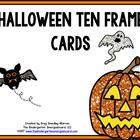 Halloween Ten Frame Cards!  A Common Core Aligned Math Pack!