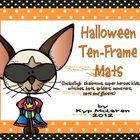 Halloween Ten-Frame Work Mats