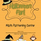 Halloween Theme Math Center {Patterns}