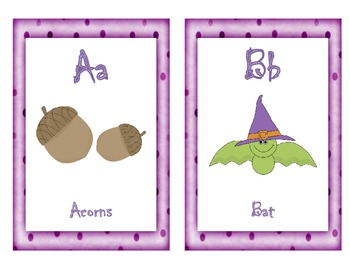 Halloween Themed A to Z Poster Cards