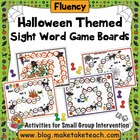 Halloween Themed Game Boards for Sight Words