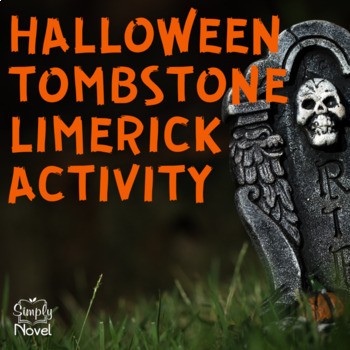 Halloween Tombstone Limerick Activity