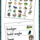 Halloween Traditional Print Word Wall Cards and Picture Di