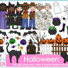 Halloween {Trick or Treat} Kids Clipart