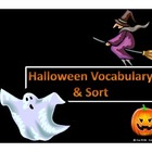 Halloween Vocabulary  Activities