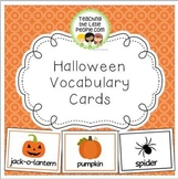 Halloween Vocabulary/Word Cards for Early Childhood and Ki