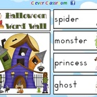 Halloween Word Wall - Vocabulary and Worksheet - 9 pages