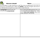 Halloween Worksheet - Monsters Attack! Similes Activity