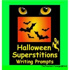 Halloween Writing Centers - Superstition Writing Prompts