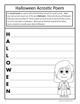 Halloween Writing Workshop