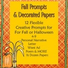 October/Fall or Halloween Creative Writing Prompts plus De