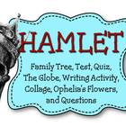 Hamlet: Family Tree, Notes, Quiz, Test, Writing Activity a