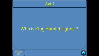 Hamlet by Shakespeare Jeopardy PowerPoint Game
