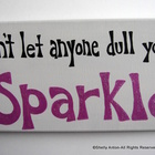 Classroom Sparkle Sign Teacher Gift Hand Painted