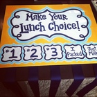 Hand Painted Lunch Choice Organizer  - Customized!