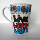 Hand Painted Teacher Mug Live Laugh Learn