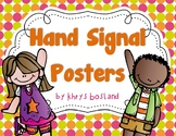 Hand Signal Posters {Bright & Colorful} {Classroom Managem