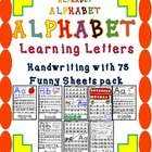 Hand-Writing Alphabet/ 78 Funny Letter Formation Sheets Pa