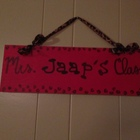 Handmade Teacher Signs