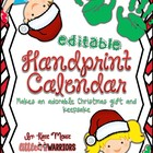 Handprint Calendar for Christmas