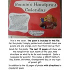 Handprint Calendar to use as a gift for parents