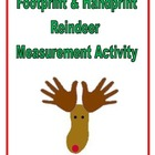 Handprint and Footprint Reindeer Measurement Activity